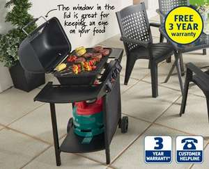 Dual Burner Gas Barbecue with 3 year warranty £39.99 @ Aldi