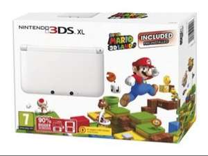 Nintendo 3DS XL (White) with Super Mario 3D Land - Limited Edition £130 @ Tesco Direct