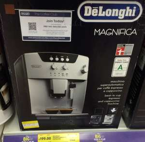 Delonghi bean to cup coffee maker ESAM 04110S £199 @ Tesco instore