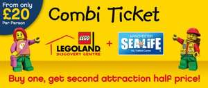 Adult / Child to visit Legoland Discovery AND Sealife Centre £20pp @ Legoland Discovery Centre Manchester