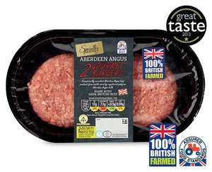 Specially Selected Angus Gourmet Burgers £2.25 @ Aldi