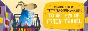 Exchange £10 in Clubcard vouchers to get £20 of train travel-Redspottedhanky