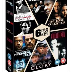 Denzel Washington 6 film DVD box set slimline version ) £6.99 @ Zoom or £5.59 after 20% off on first order when signing up for newsletter - free delivery