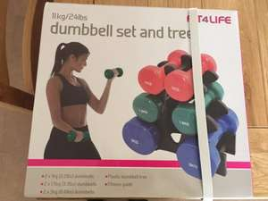 Dumbbells reduced to £10.00 at Asda instore