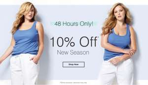 10% Off all New Season Clothing + Free click & Collect + Extra 10% Off using discount code at Evans