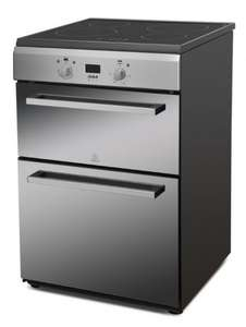 Indesit stainless steel 60cm Double Oven Induction Cooker ID6IVS2M £378.95 free delivery @ hotpointfactoryoutlet.co.uk