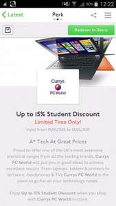 Curry's Unidays up to 15% off Student Discount
