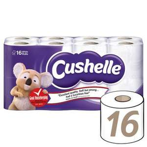 Cushelle  16 White Toilet Rolls(180 Sheet per roll) Reduced To Clear £3.86 @ Tesco In store.