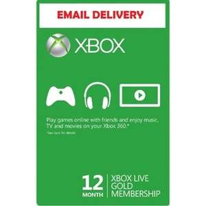 {Xbox One/Xbox 360} Xbox Live 12 Month Gold Membership [Email Delivery] £20.99 (After Code) @ Rakuten / MSpoints