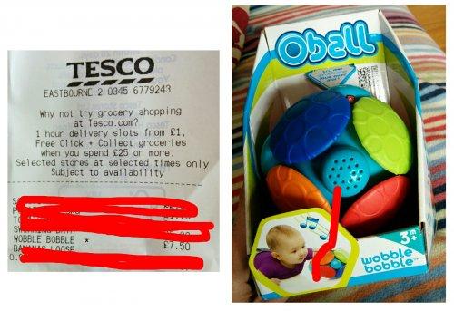 Oball Wobble Bobble Toy Instore £7.50 @ Tesco Eastbourbe