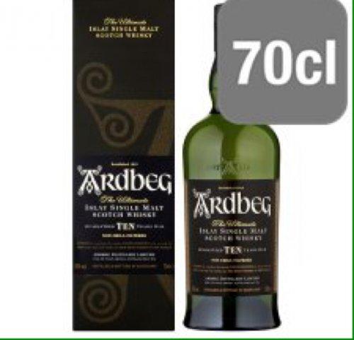 Ardbeg 10 year old single malt whisky £40 - Tesco