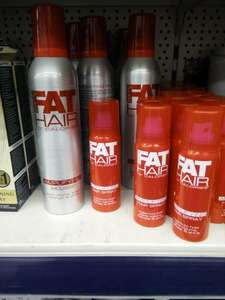 Fat hair mousse and hairspray £1 @ poundworld slough