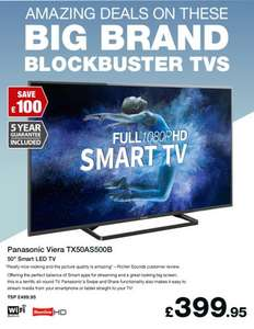 Panasonic TX-50AS500B 50in 1080p Full HD Smart LED TV, Built-In Wi-Fi & Freeview + 5 Year Guarantee - £399.95 delivered @ Richer Sounds
