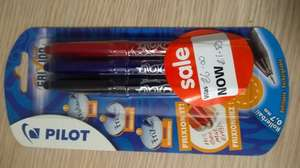 PACK OF 3 PILOT FRIXION BALL PENS ONLY £1.50 - Asda
