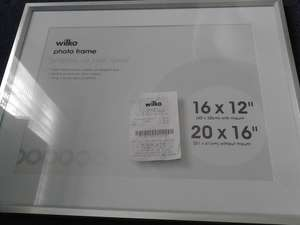 "Photo Frame 16"" x 12"" £2.00 in store at Wilkinsons"