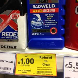 Holts Radweld radiator leak repair £1 @ Tesco