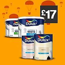 Dulux 5 litre tins of standard emulsion paint are £17 at B&Q for this bank holiday weekend & up to the end of the month
