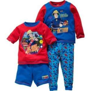 Fireman Sam Boys' Blue 2 Pack Pyjamas £5.19 @ Argos