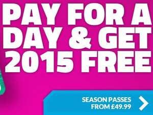 Thorpe Park Pay for a Day and Get 2015 Season Pass £49.99