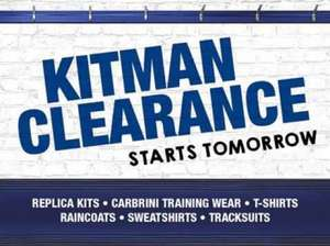 Birmingham City FC  Kitman's end of season sale starts Saturday - In-store only! £1