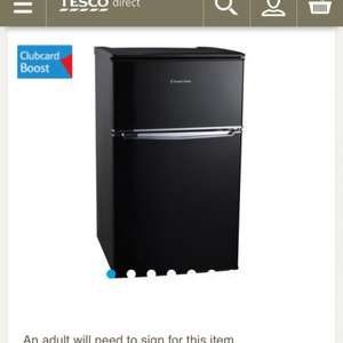 Russell Hobbs Black 48cm Under Counter Fridge Freezer £159 @ Tescodirect