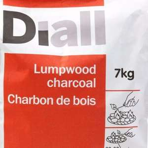 Diall lumpwood charcoal 7kg pack at £3 from £7. From tomorrow in stores at B&Q