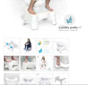 Squatty Potty - the old school way to open your bowels properly £27 @ stressnomore