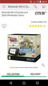 Wii U zelda windwaker bundle price drop at argos £179.99 + £20 argos vouchers and 4 free games