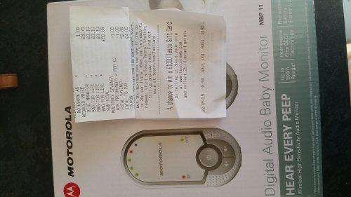 MOTOROLA Digital Baby Monitors scanning at £8.75 in Tesco instore