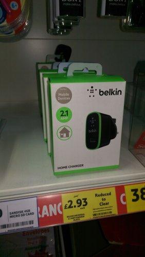 Belkin 2.1amp USB charger £2.93 @ Tesco instore