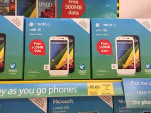 Motorola Moto G (4g) - £95 or £45 with clubcard vouchers in Tesco