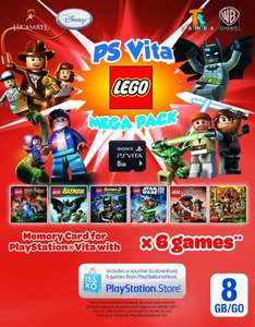 PS Vita - Lego megapack (8gb memorycard + 6 lego games) for £14.99 instore @ Smyths