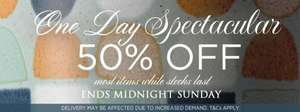 Denby 50% off most items while stocks last one day only