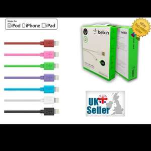 """""""Belkin style"""" iPhone 5/6 cable 1.2M £2.99 @ NMRNS Ebay"""