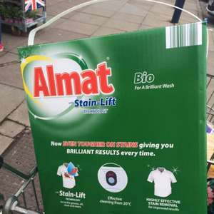 Aldi 100 wash almat bio washing power £4.49 from £8.99