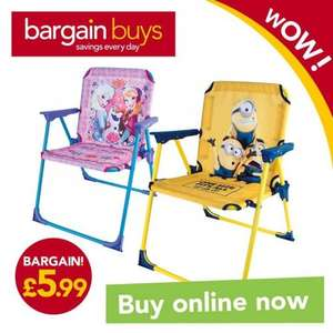 Kids Frozen or Minion Folding chairs  £5.99 + £3.95 del (£9.94) @ Bargain Buys