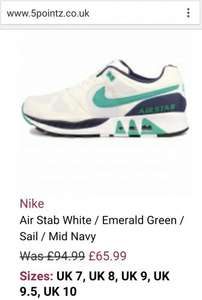Nike Air Stab trainers for £49.49 plus many more @ 5pointz.co.uk