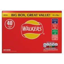 Walkers Crisps 40 bags box assorted flavours (No VAT) £3.89 @ Costco Derby