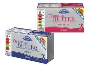 500g Lidl salted/unsalted butter for £1.49 (£2.98/kg) @ Lidl