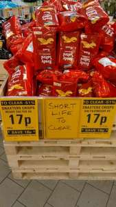 Snaxters 6 x pack of 25g crisps various flavours - 17p @ Netto Moortown Leeds