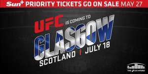 UFC Fight Pass £9.99 for 3 months with Sun+