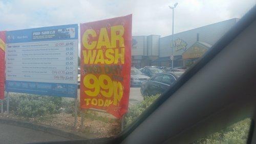 Express Car Wash 99p @ ARC