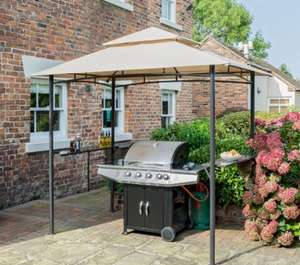 Rowlinson Metal BBQ Gazebo with Granit Shelves £167 but scanning at £126 B&Q