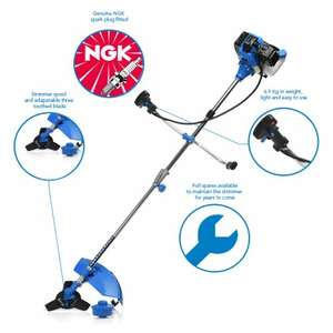 52cc Petrol Grass Strimmer / Brush Cutter / Trimmer - 2.2KW 3HP £64.94 @ sgs-engineering.com