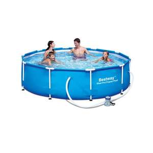 10ft X 30in Steel Frame Bestway Pool Inc. Pump + Filter £70 - Wilko