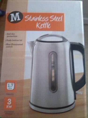 Stainless Steel Kettle  1.7 l   FAST BOIL 3 KW    £10 @ Morrisons