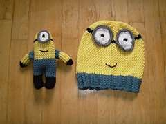 FREE 'MINIONS'  KNITTING PATTERNS - HAT AND TOY - TO DOWNLOAD