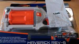 NERF N-Strike Maverick Rev-6 - £6.99 in-store LIDL