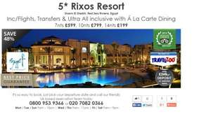 14 Nights in Rixos Sharm Ultra All inclusive for £199 from Manchester on 19th December - Fleetway Travel