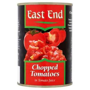 East End Chopped Tomatoes/ Peeled Plum Tomatoes / Chick Peas / Black Eye Beans / Cannellini Beans / Butter Beans / Borlotti Beans / Kala Chana Yellow Gram / Red Kidney Beans - 400G - Any 4 for £1 @ Tesco